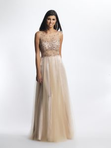 Long Champagne Dress