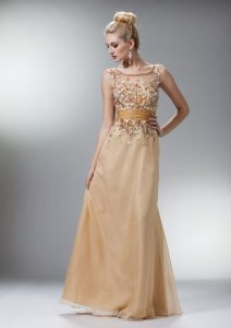 Long Champagne Dresses