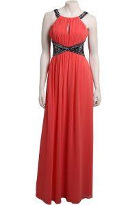 Long Coral Maxi Dress
