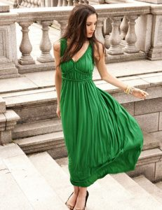 Long Green Maxi Dress