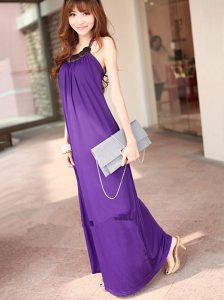Long Purple Maxi Dress