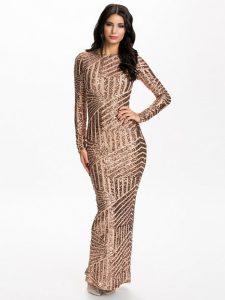 Long Sleeve Sequin Maxi Dress
