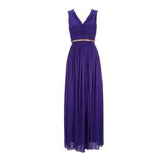 Purple maxi dress dressed up girl for Purple maxi dresses for weddings