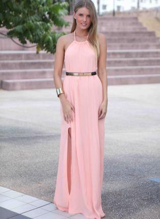 ba9cf9c93d2 Pale Pink Maxi Dress