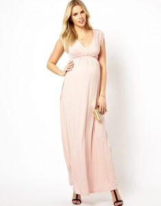 Pink Maternity Maxi Dress