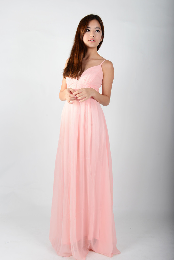 Pink Maxi Dress Dressed Up Girl