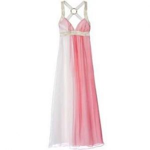 Pink and White Maxi Dress