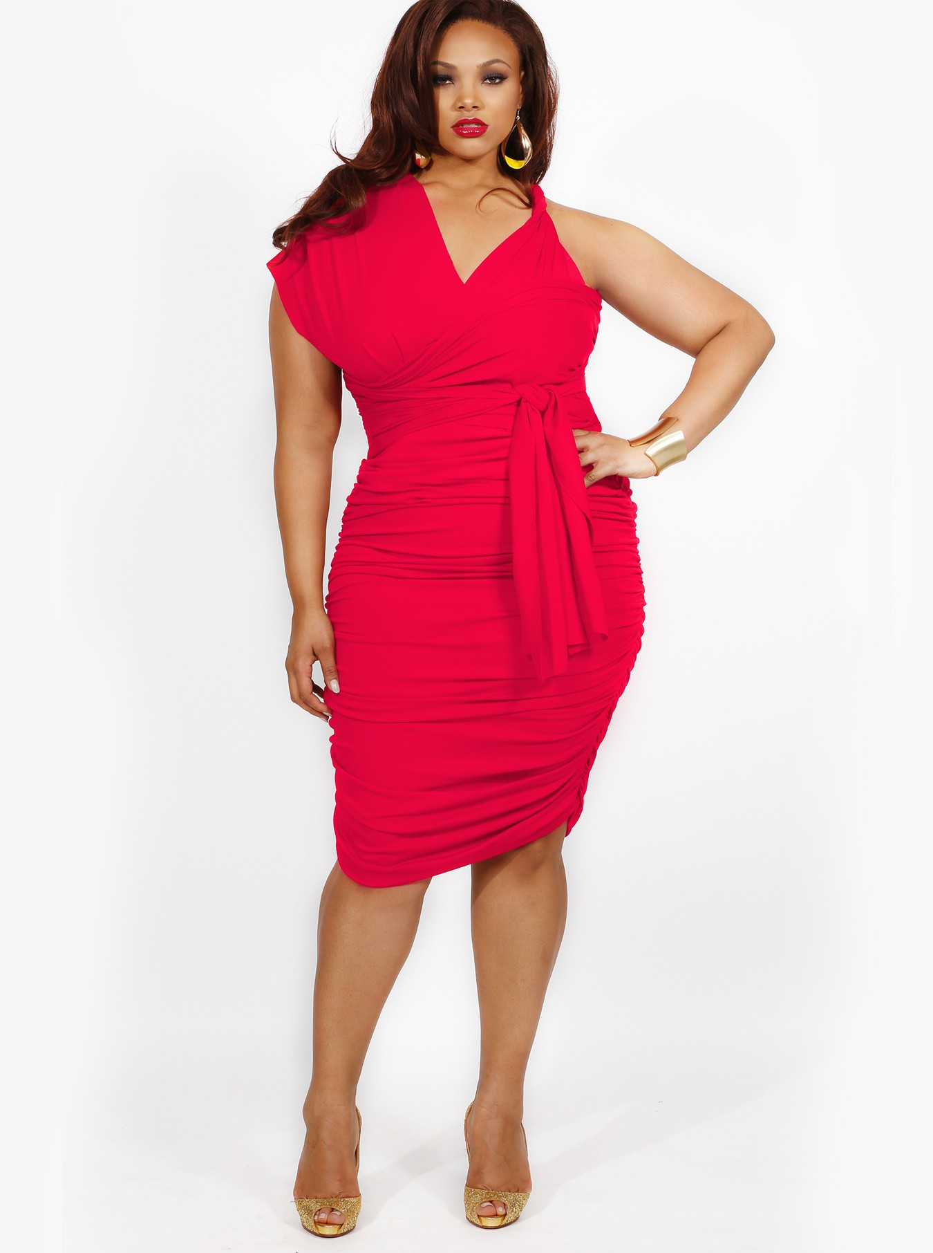 b3bd40e999c RED PLUS SIZE DRESSES - Kapres Molene