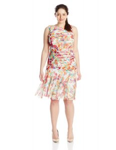 Plus Size Drop Waist Dress