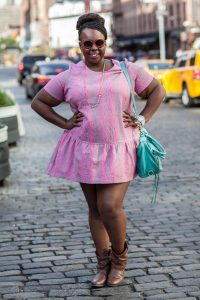 Plus Size Drop Waist Dress for Women