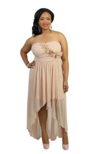 Plus Size High Low Dress