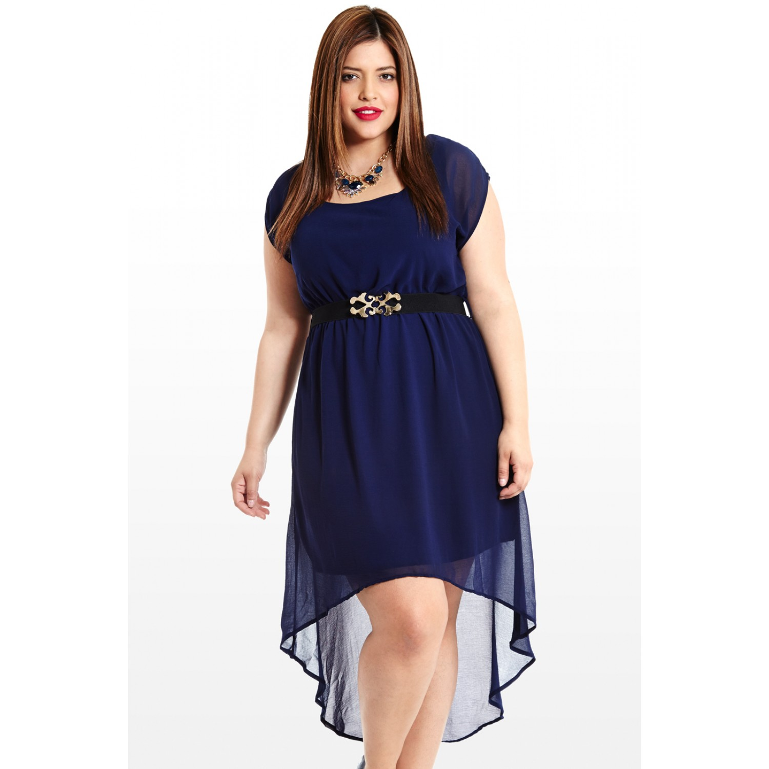 plus size hi low dresses