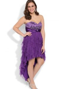 Plus Size High Low Prom Dresses