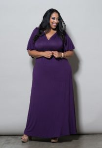 Plus Size Purple Maxi Dress