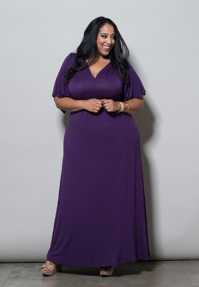 Purple Maxi Dress   DressedUpGirl.com