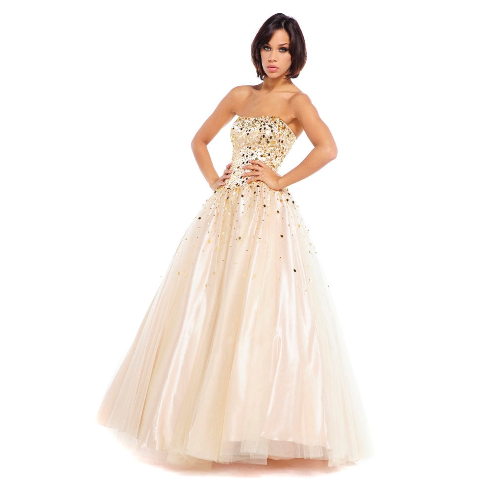 Champagne prom dresses dressed up girl for Prom dresses that look like wedding dresses