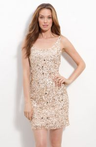 Sequin Champagne Dress