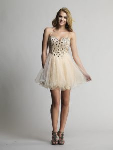 Short Champagne Prom Dresses