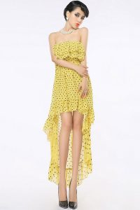 Strapless Chiffon High Low Dress