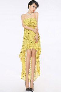 Strapless Chiffon High Low Dress