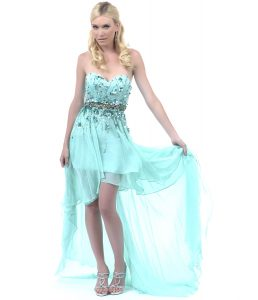 Teal High Low Dress Pictures