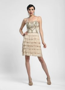 Vintage Champagne Cocktail Dress