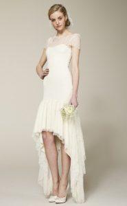 White Dress High Low