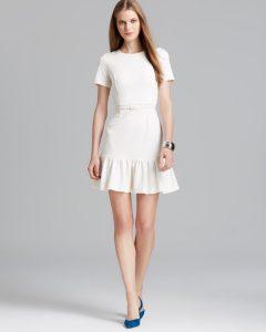 White Drop Waist Dress Images