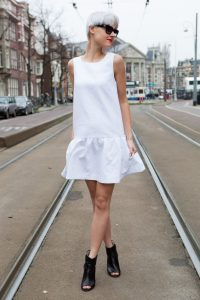 White Drop Waist Dress Pictures