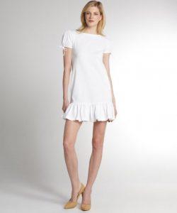 White Drop Waist Dresses