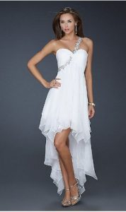 White High Low Dress