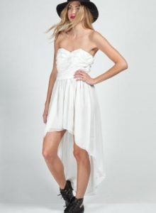 White High Low Dresses