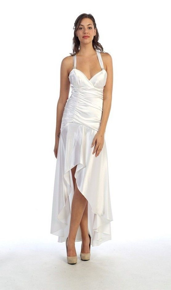White high low dress dressed up girl