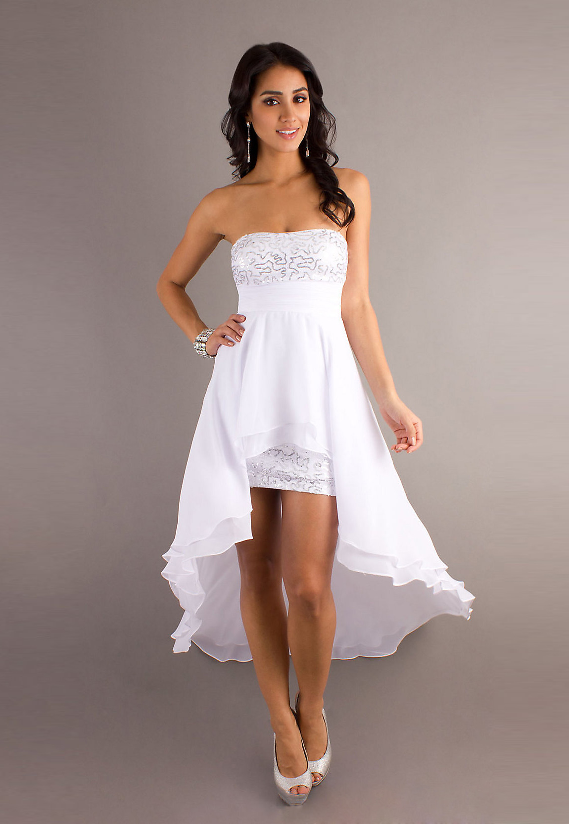 White Dress Strapless