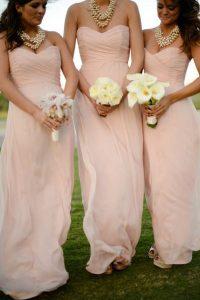 Baby Pink Bridesmaid Dresses