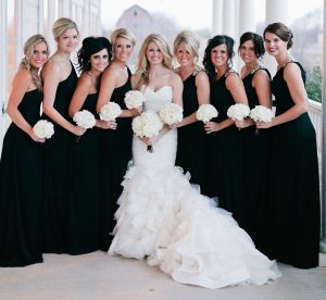 Black Bridesmaid Dresses Long