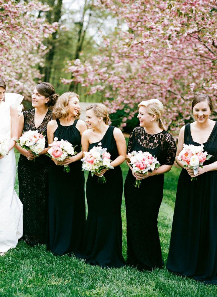 Black Bridesmaid Dresses Dressed Up Girl