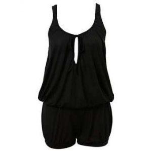 Black Jumpsuit Shorts
