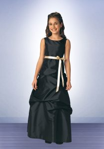 Black Junior Bridesmaid Dresses