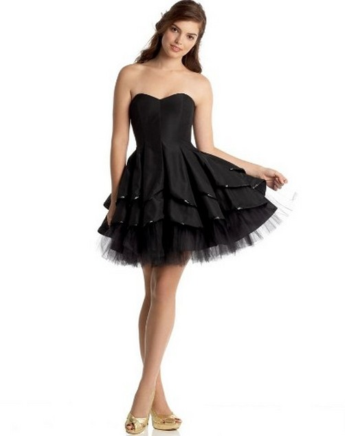 Short Black Weding Dreses 021 - Short Black Weding Dreses