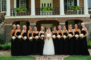 Black Strapless Bridesmaid Dress