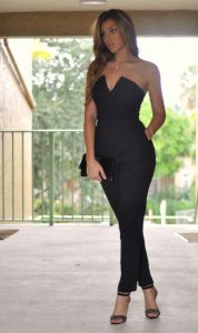 Black Strapless Jumpsuit Outfit