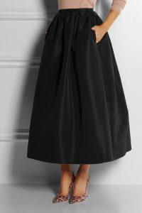 Black Taffeta Skirt