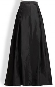 Black Taffeta long Skirt