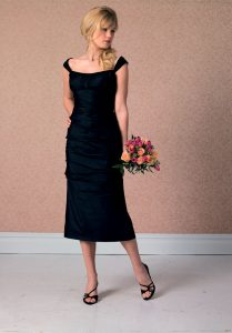 Black Tea Length Bridesmaid Dresses