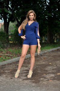 Blue Romper Outfit