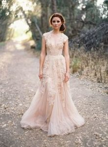 Blush Lace Bridesmaid Dresses