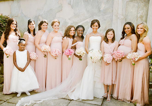 BLUSH BRIDESMAID DRESSES - Yuman Dakren
