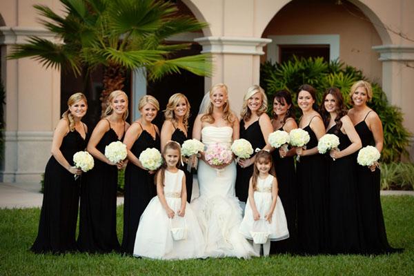 Bridesmaid Black Dresses