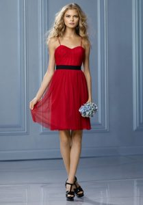 Bridesmaid Dresses in Red